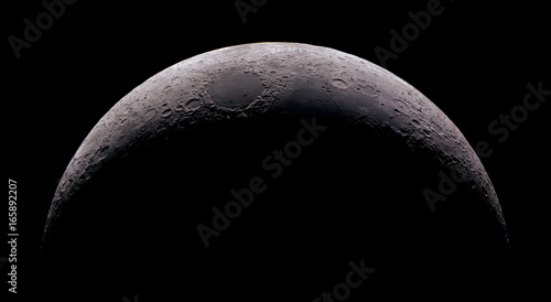 Fotografia High detail 15% Crescent Moon shot at 2.700mm focal length