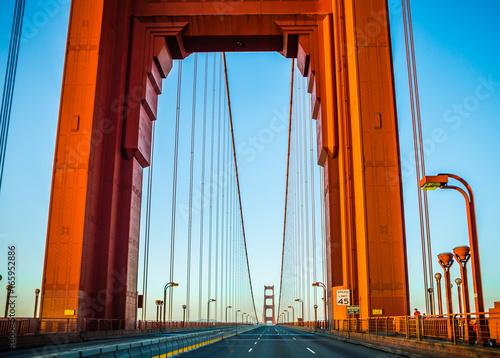 Photo golden gate bridge early morning in san francisco california
