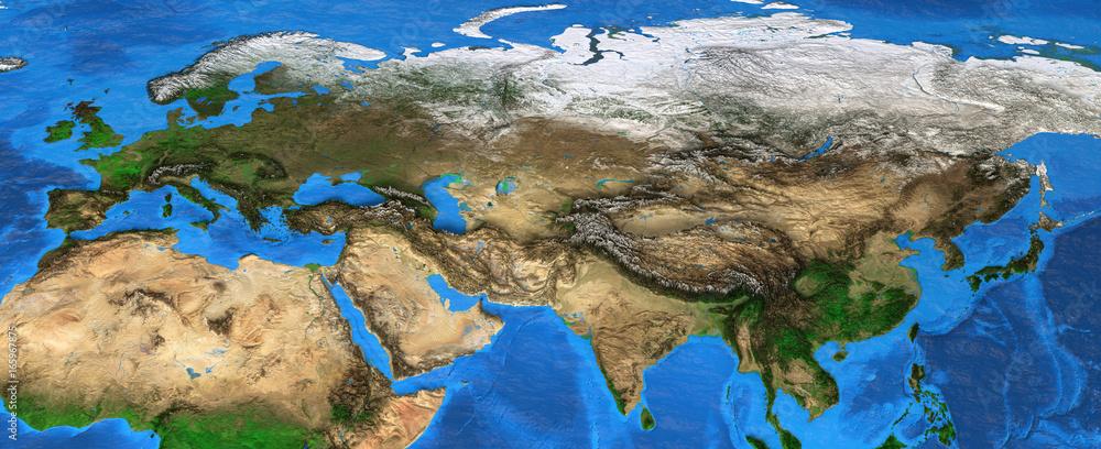 Eurasia - High resolution map of Europe and Asia <span>plik: #165967875 | autor: mozZz</span>
