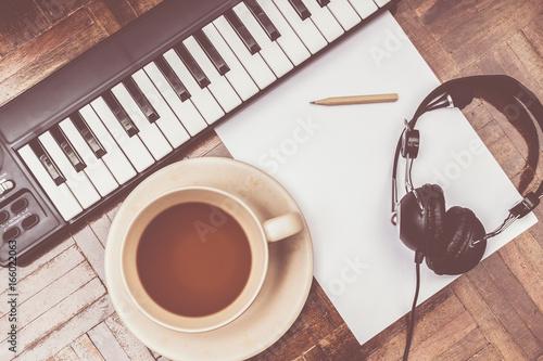 Fototapeta songwriter concept