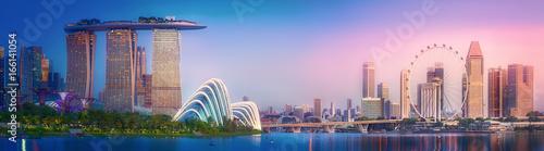 Canvas Print Singapore skyline background