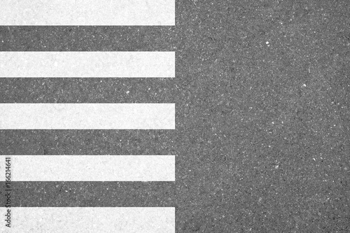 Fotografia Zebra crosswalk on the road for safety crossing