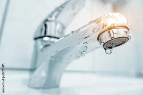Fotografie, Obraz Water tap in bathroom