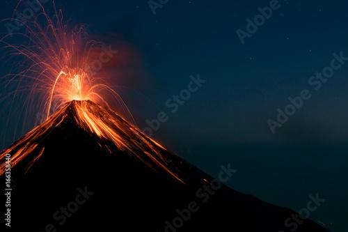Photo Erupting Volcano Fuego