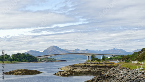 Photo View of the Skye Road Bridge over Loch Alsh from the Isle of Skye to the island