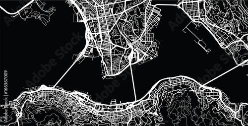 Obraz na plátně Urban city map of Hong Kong