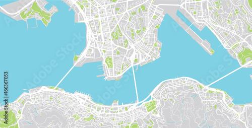 Fototapeta Urban city map of Hong Kong