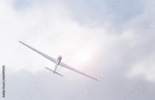 Segelflugzeug beim Kunstflug