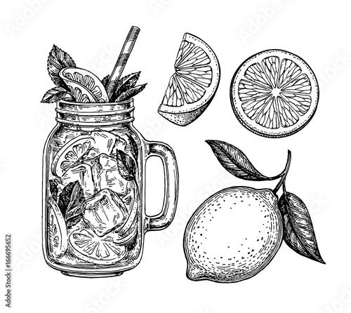 Fotografie, Obraz lemonade and lemon