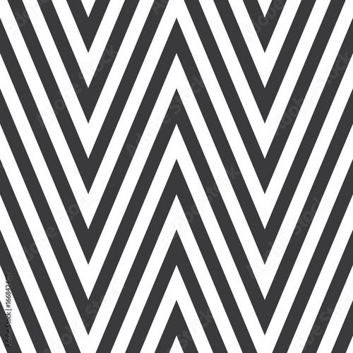 Seamless black and white geometric extremely high zig zag pattern vector