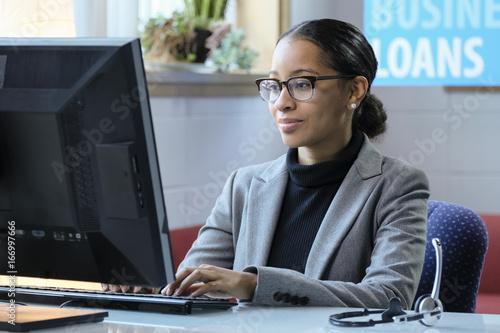 Slika na platnu Portrait of a female business loan officer