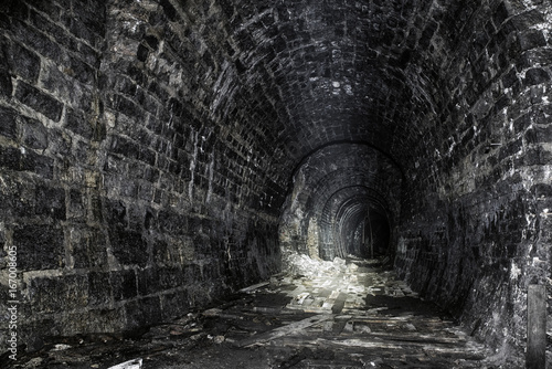 Old ruined tunnel