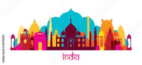 India Architecture Landmarks Skyline, Shape