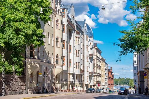 Photo Street in Helsinki. Finland, EU