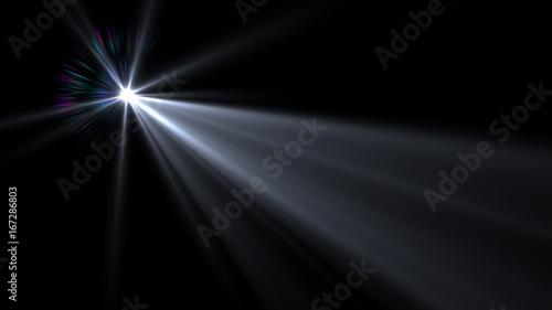 Photo Lens flare effect on dark background. Digital illustration.