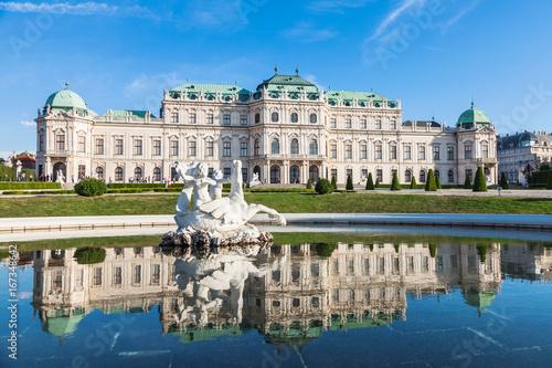 Canvas Print Belvedere palace in Vienna, Austria