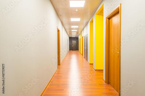 Fotografia Hotel lobby corridor with modern design