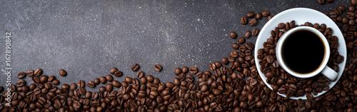 Mata na ścianę w kuchni  filizanka-kawy-z-palonymi-ziarnami-kawy