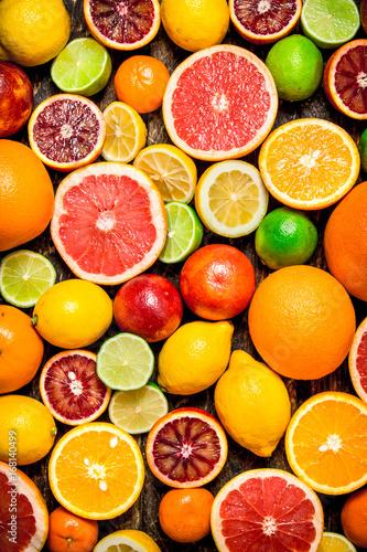 Fototapeta Citrus background