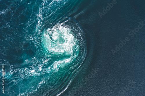 Obraz na plátně Whirlpools of the maelstrom of Saltstraumen, Nordland, Norway