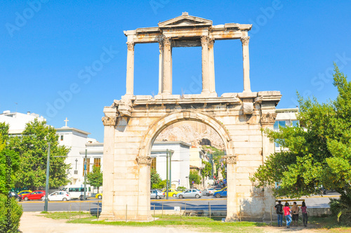 Canvas-taulu Arch of Hadrian in Athens, Greece