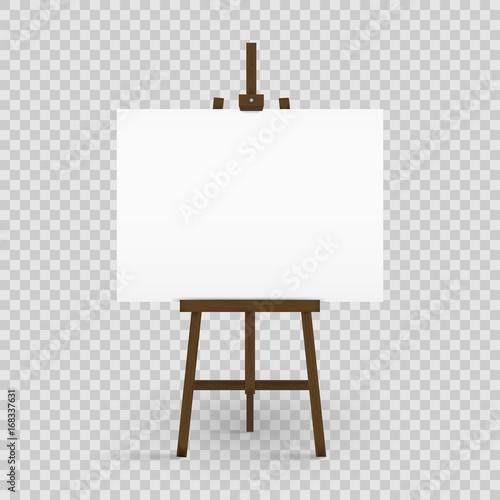 Photo Blank canvas on a artist' easel
