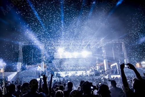 Obraz na płótnie Stage Spotlight with Laser rays