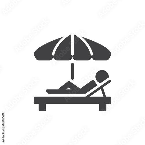 Obraz na plátně Sunbathe icon vector, filled flat sign, solid pictogram isolated on white