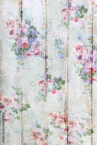 styl vintage drewniane tła z kwiatowym wzorem