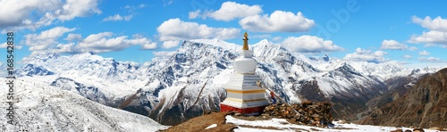 Canvas Print Panoramic view of Annapurna range, Nepal