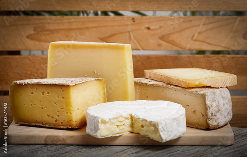 Canvas Print Different french cheeses Normandy and Savoie