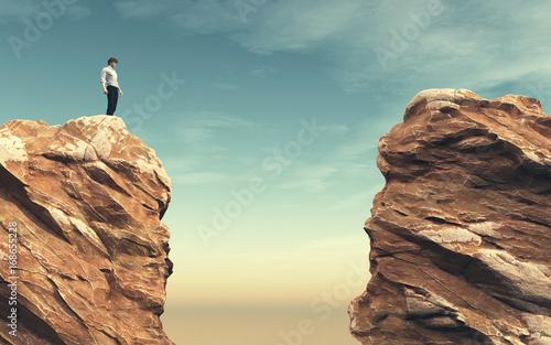 Fotografia Young man on a rock
