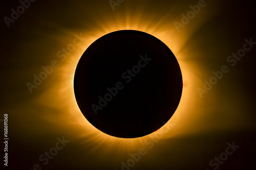 Total Eclipse Solar Corona - Photographed at Cerulean, Kentucky on August 21, 2017.