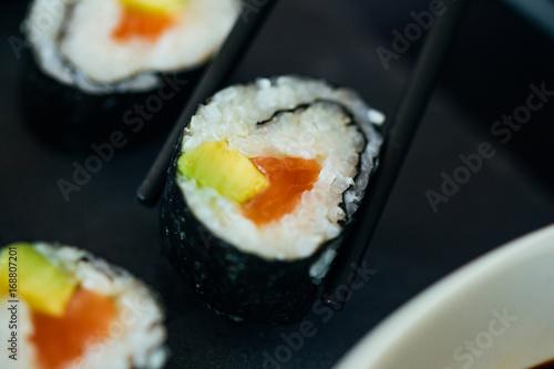 Fotografie, Obraz Sushi On A Plate