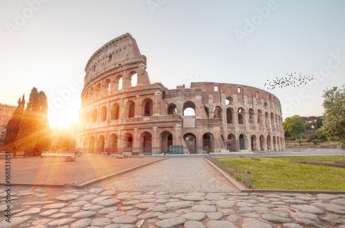 Leinwand Poster Colosseum at sunrise, Rome