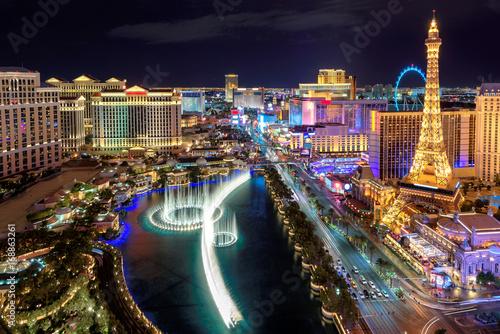 Murais de parede Las Vegas strip, Aerial view