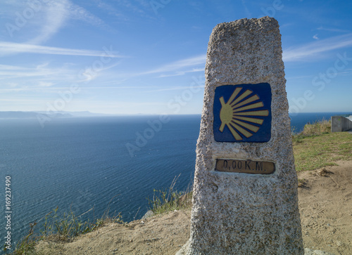 Photo The km 0 in Ferrol at the beginning of the way for Santiago of Compostela