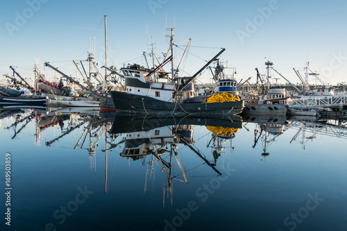 Fotografia Fishing boats and reflections