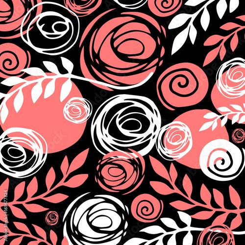 Ilustracja Kwiatów Wzór Bloom Beauty Green. Tło I Tekstura.