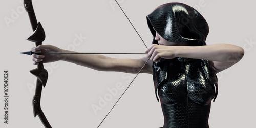 Obraz na plátně archer woman