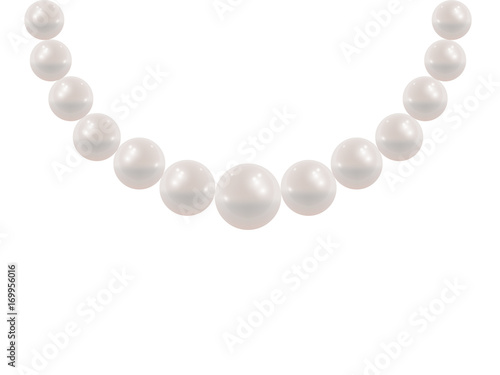 Photo White pearl necklace.