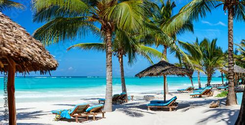 Stampa su Tela Perfect tropical beach