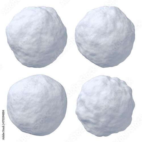 Photo Snowballs set