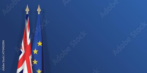 drapeau - Grande Bretagne - européen - Brexit - présentation - fond Fototapeta