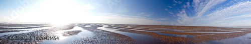 Fotografie, Obraz Panorama Wattenmeer
