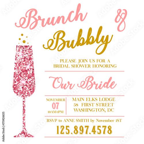 Obraz na płótnie Brunch and Bubble bridal shower