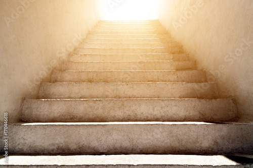 stairs leading up to the sunlight Fototapet