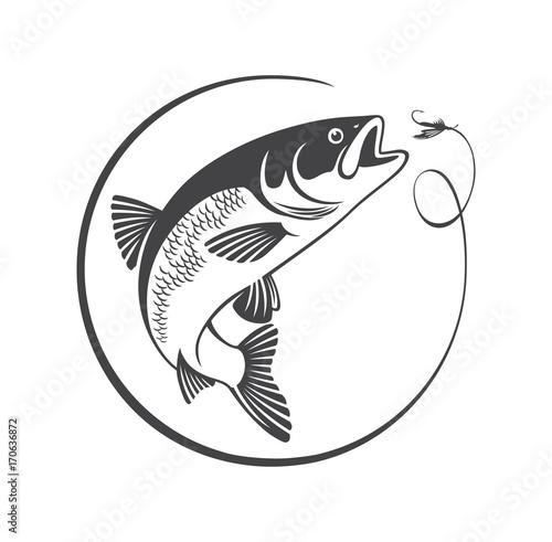 Canvas Print fish chub