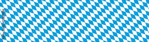 Fotografiet Oktoberfest Banner Hintergrund - Bayern, Rauten, Muster