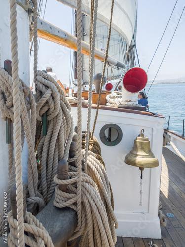 Canvas Print tall ship - brigatine